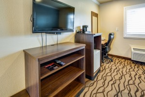All rooms feature flatscreen TVs at ABVI Richmond