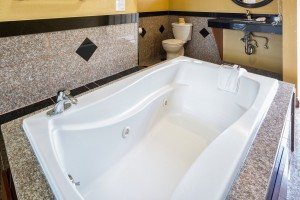 Jacuzzi Tub Room in our remodeled King Bedroom