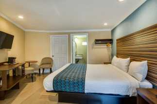 Americas Best Value Inn Richmond - Plush king size bed in our Deluxe King Room